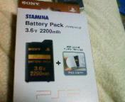 【PSP】バッテリーパック3.6v 2200mAh